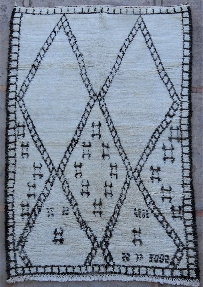 Tapis de salon berbère #BOA54021 de type tapis Beni Ouarain et Moyen Atlas Anciens