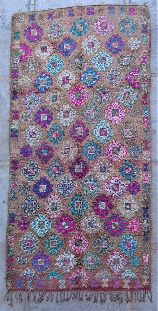 Tapis de salon berbère #BOA54025 de type tapis Beni Ouarain et Moyen Atlas Anciens