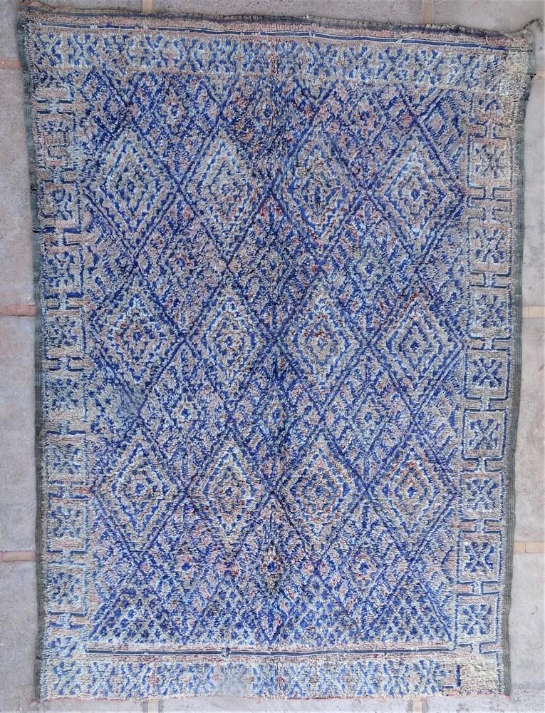 Tapis de salon berbère #BOA54034 de type tapis Beni Ouarain et Moyen Atlas Anciens