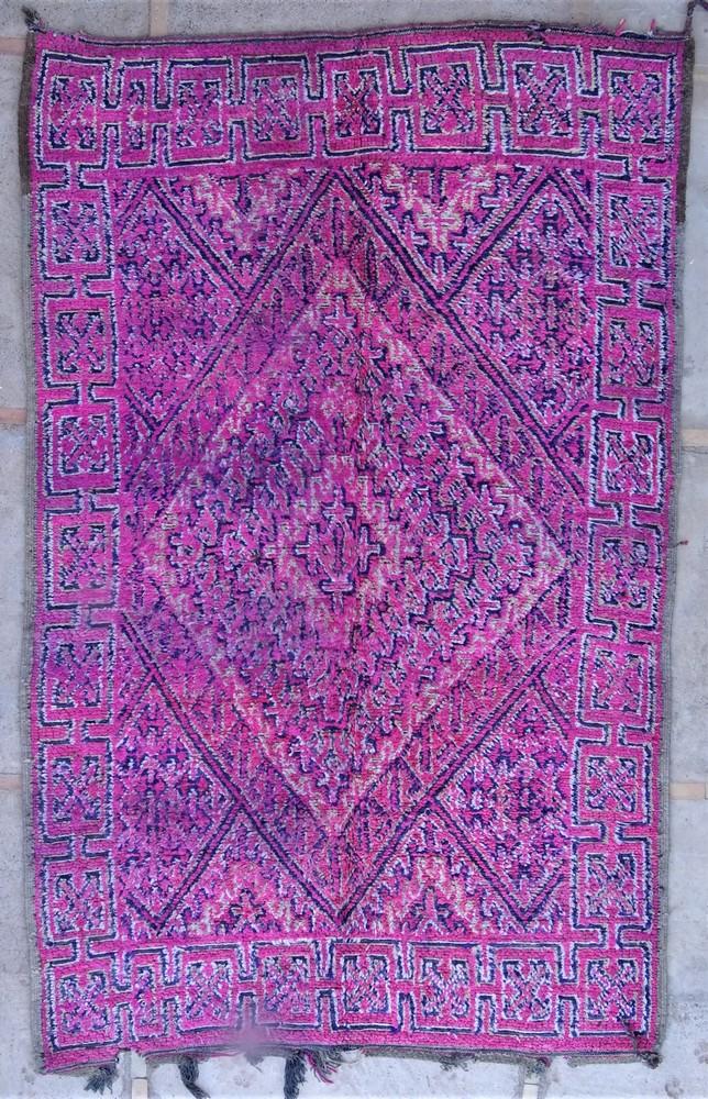Tapis de salon berbère #BOA54035 de type tapis Beni Ouarain et Moyen Atlas Anciens