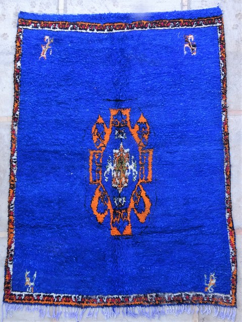 Tapis de salon berbère #BOA54040 de type tapis Beni Ouarain et Moyen Atlas Anciens