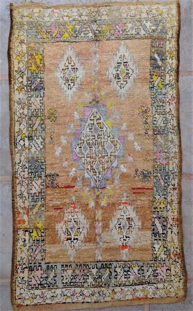 Tapis de salon berbère #BOA54043 de type tapis Beni Ouarain et Moyen Atlas Anciens