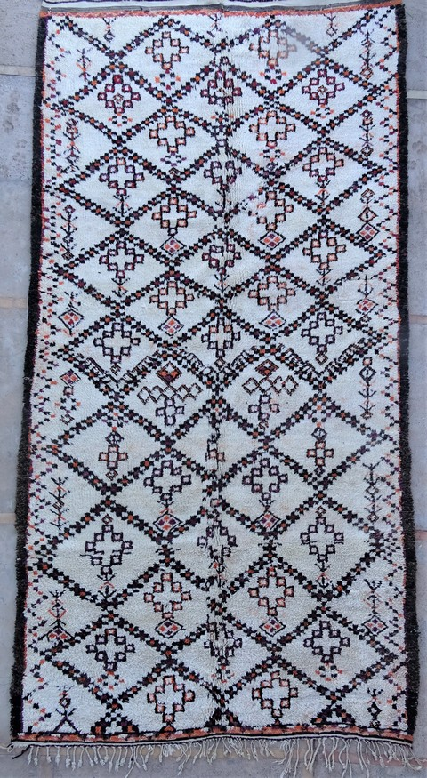 Tapis de salon berbère #BOA54014 de type tapis Beni Ouarain et Moyen Atlas Anciens