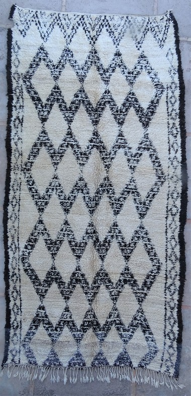 Tapis de salon berbère #BOA54012 de type tapis Beni Ouarain et Moyen Atlas Anciens