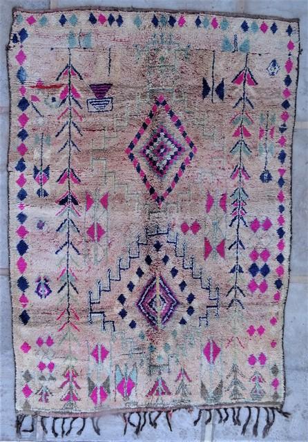 Tapis de salon berbère #BOA54029 de type tapis Beni Ouarain et Moyen Atlas Anciens
