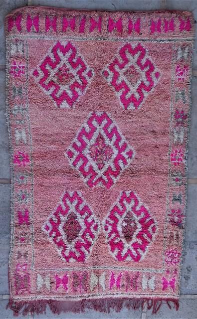 Tapis de salon berbère #BOA54030 de type tapis Beni Ouarain et Moyen Atlas Anciens