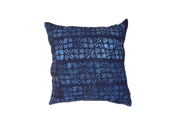 Coussins indigo Indigo cushion with original fabric  from dogons  Mali